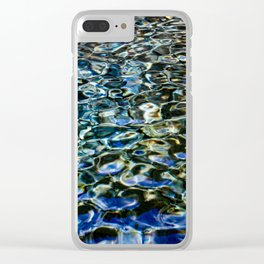 Cool Prismatic Waves on the Yuba Clear iPhone Case