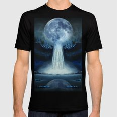 waterfall moon X-LARGE Black Mens Fitted Tee