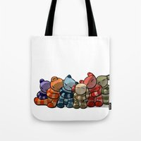 cuddle Tote Bags featuring Cuddle by Friederike Ablang