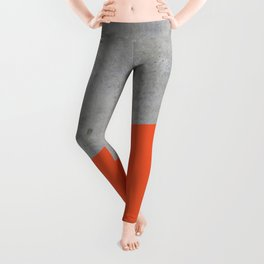Concrete and Flame Color Leggings