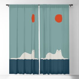 Cat Landscape 95 Blackout Curtain