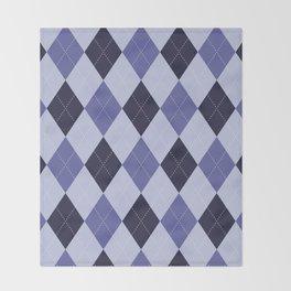 Blue Argyle Pattern Throw Blanket