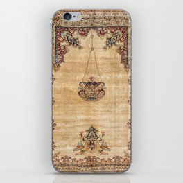 Tabriz  Antique North West Persian Silk Prayer Rug iPhone Skin