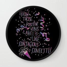 Contagious Confetti  Wall Clock