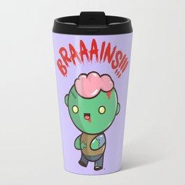 Zombie Kawaii   BRAAAINS!!!! BRAINS!! Halloween Travel Mug
