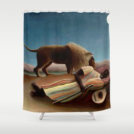 Henri Rousseau - The Sleeping Gipsy Shower Curtain