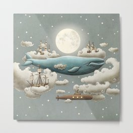 Ocean Meets Sky - colour option Metal Print
