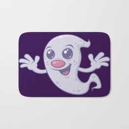 Cute Retro Ghost Bath Mat