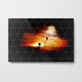 Stay Gold Sunset Digital Manipulation Metal Print