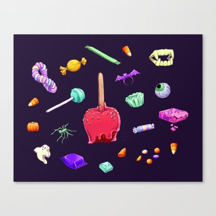 Halloween Candy Pattern Canvas Print