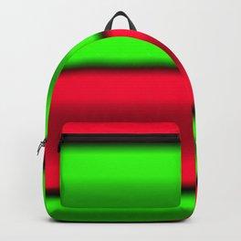 Green & Red Horizontal Stripes Backpack
