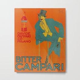 Bitter Campari Vintage Beverage Poster Metal Print
