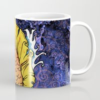 koi fish Mugs featuring Koi Fish by Spooky Dooky
