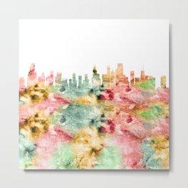 Chicago City Skyline Illinois Metal Print