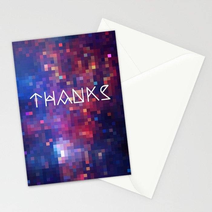 Galactic Squares #1 Thank You Card Stationery Cards