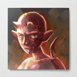 little young teen devil Metal Print