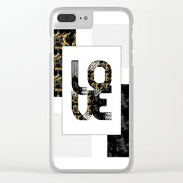 Graphic Art Gold LOVE | black Clear iPhone Case