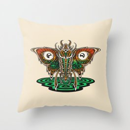 Cosmic Insect - Light Throw Pillow
