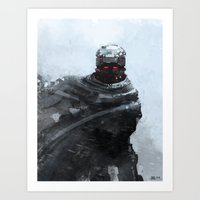 the winter soldier Art Prints featuring Winter soldier by Kirk Pesigan