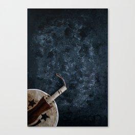 Igbo Nigerian Hand Fan [Blues Scale] Canvas Print