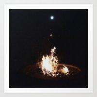 Summer Moon Art Print