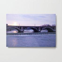 Schuyler Avenue Bridge in the Winter Metal Print