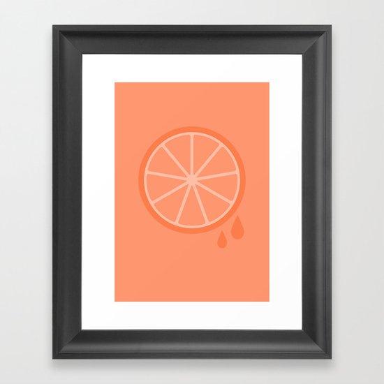 #51 Orange Framed Art Print