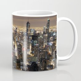 Chicago By Night Coffee Mug