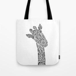 Giraffe in Monochrome Tote Bag