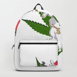 Cannabis No Drama Lama Weed Kiffer Backpack