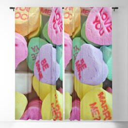 Candy Hearts Blackout Curtain