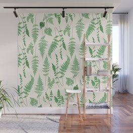 Ferns on Cream I - Botanical Print Wall Mural