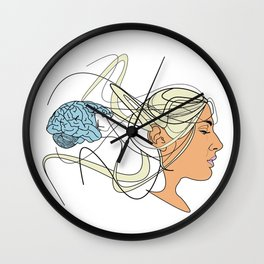 Brain Seperation Wall Clock