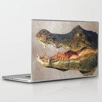 crocodile Laptop & iPad Skins featuring Crocodile by Anna Milousheva