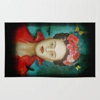 frida Area & Throw Rugs featuring Frida by Sybille Sterk