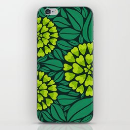 Spring Green Floral pattern iPhone Skin