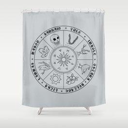 Pagan Calendar Line Shower Curtain