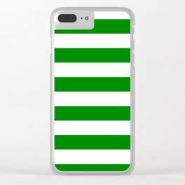 Horizontal stripes / green Clear iPhone Case