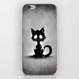 Creepy Cat iPhone Skin