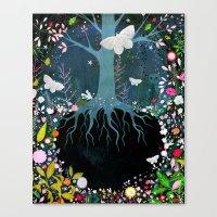 velvet underground Canvas Prints featuring Underground by Danse de Lune