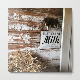 Fresh Milk Metal Print