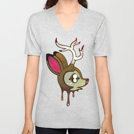 Deer Head Unisex V-Neck