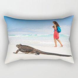 Galapagos wildlife beach Rectangular Pillow