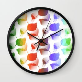 Leaves Descent Wall Clock