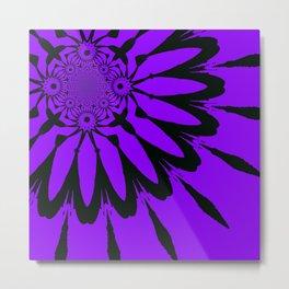 The Modern Flower Purple Metal Print
