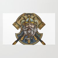 viking Area & Throw Rugs featuring Viking by Spooky Dooky