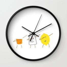 Tequila and friends, salt and lemon makes it grreat, just best buddies that dabb Wall Clock