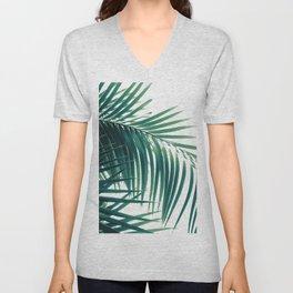 Palm Leaves Green Vibes #6 #tropical #decor #art #society6 Unisex V-Neck