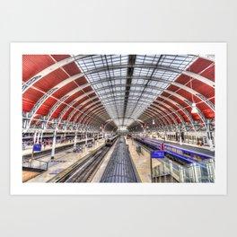 Paddington Station London Art Print