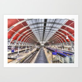 Paddington Station London Art Print